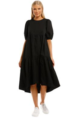 Mink-Pink-Hazel-Midi-Dress-Black-Front