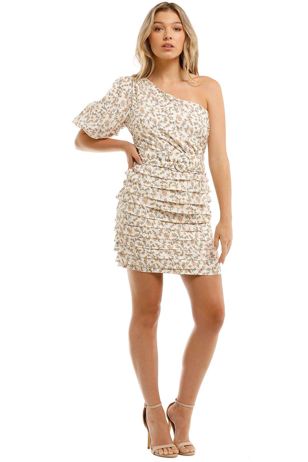 Mink-Pink-One-Shoulder-Puff-Mini-Dress-Front