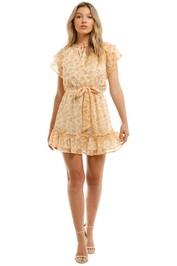 Mink-Pink-Ruffle-Mini-Dress-Multi-Front