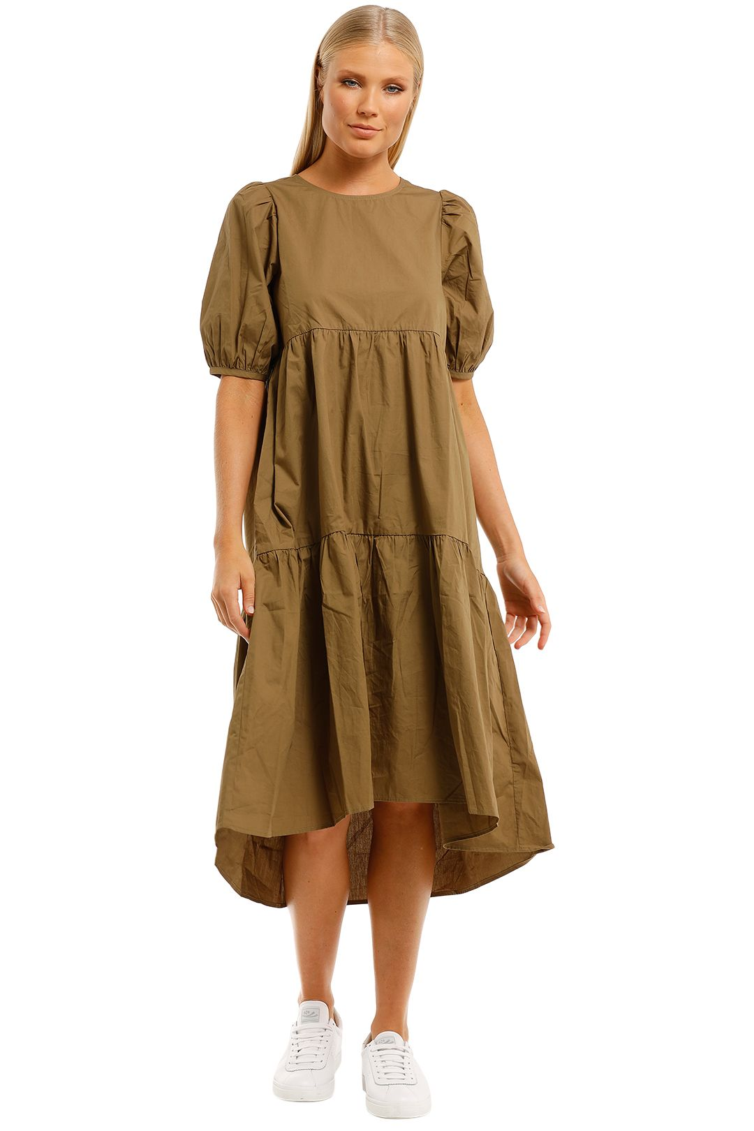 Mink-Pink-Soph-High-Low-Hem-Midi-Dress-Khaki-Front