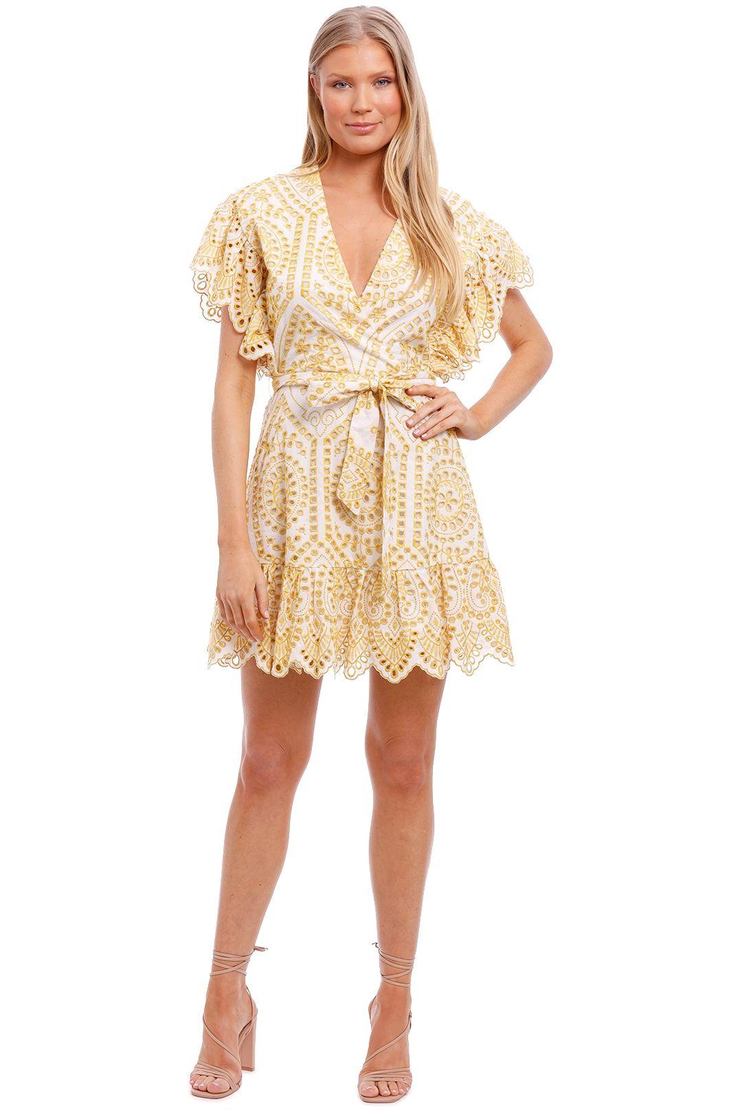Mink Pink Krista Wrap Mini Dress