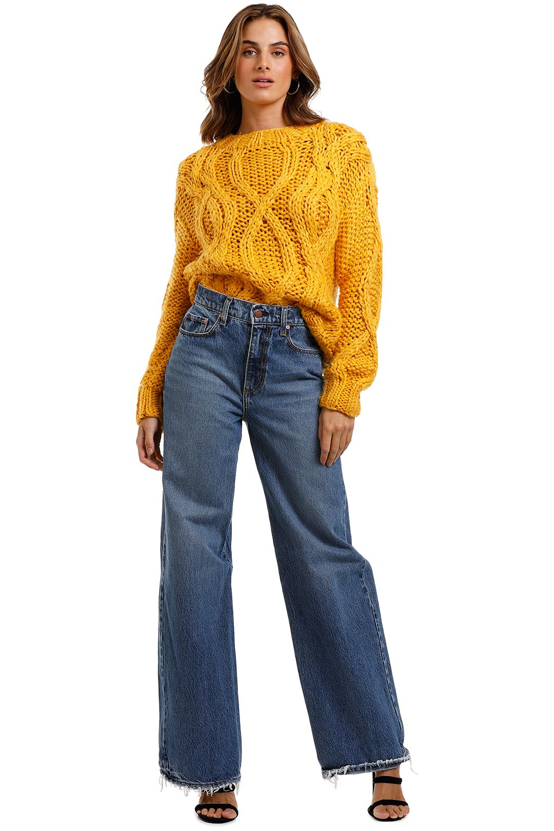 Mink Pink Marielle Cable Sweater
