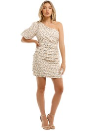 Mink Pink One Shoulder Puff Mini Dress