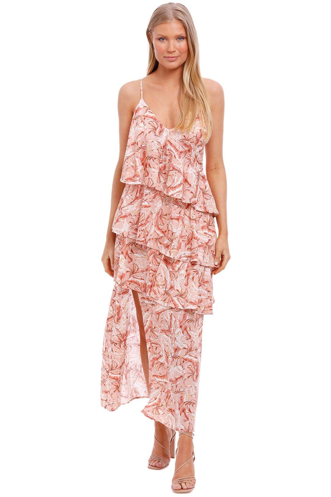 Mink Pink South Coast Palm Midi Dress