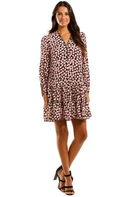 Mint Velvet Elle Floral Mini Dress Long Sleeve