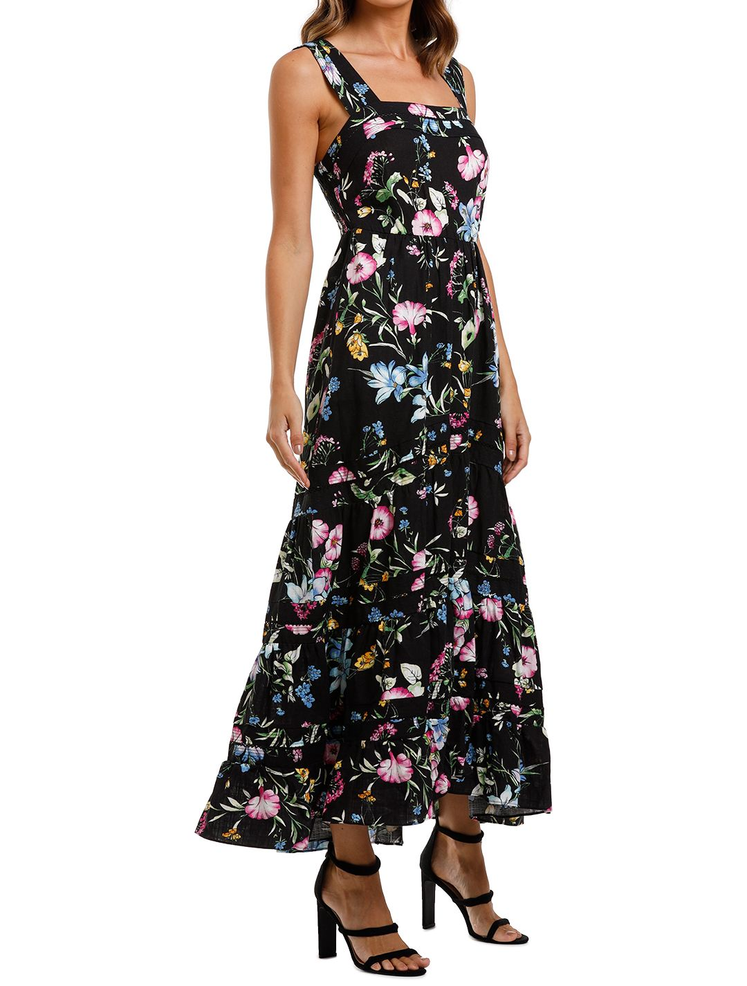 Misa LA Aurelia Dress tiered Maxi