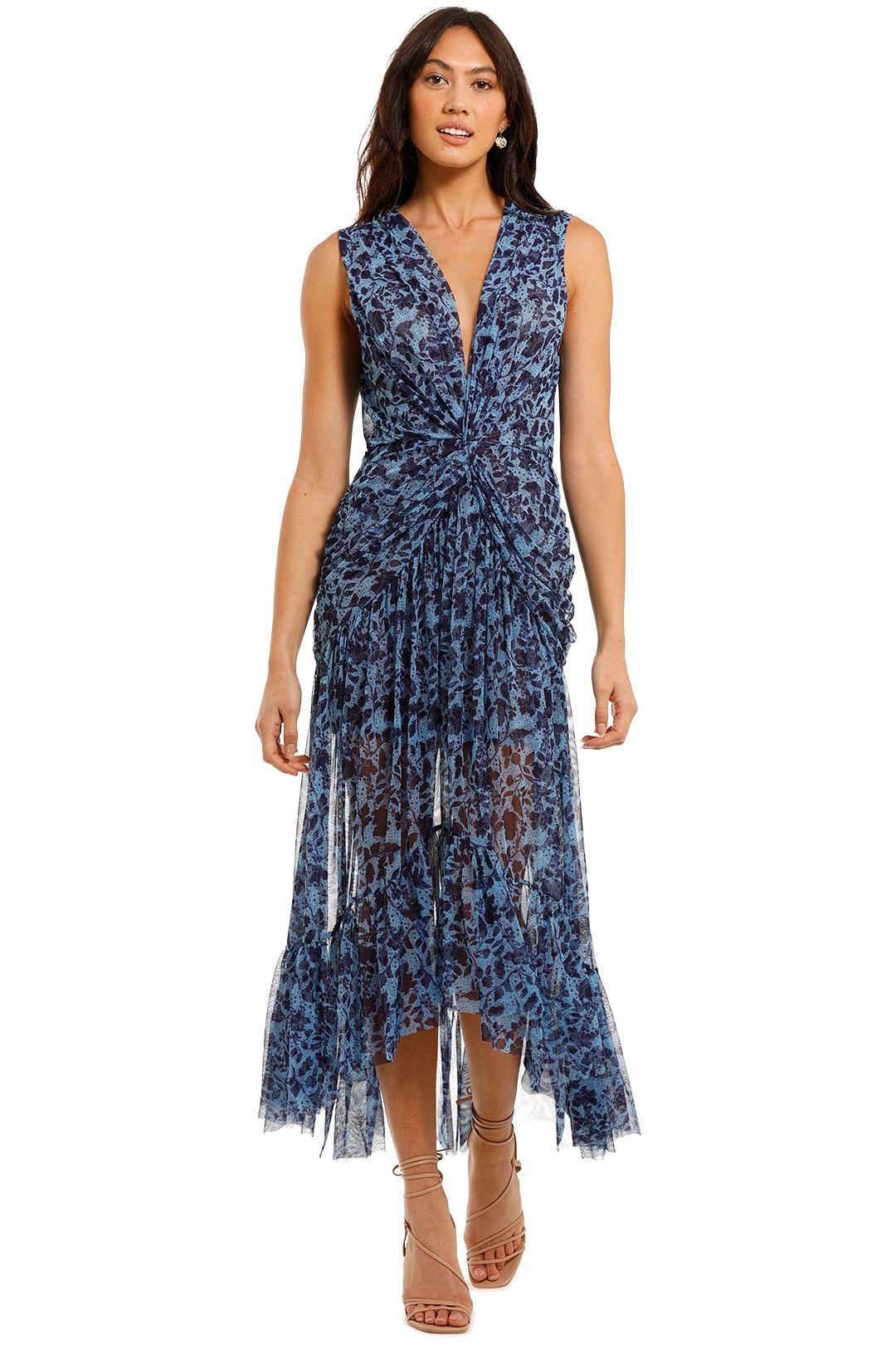 Misa LA Ava Dress Blue Print