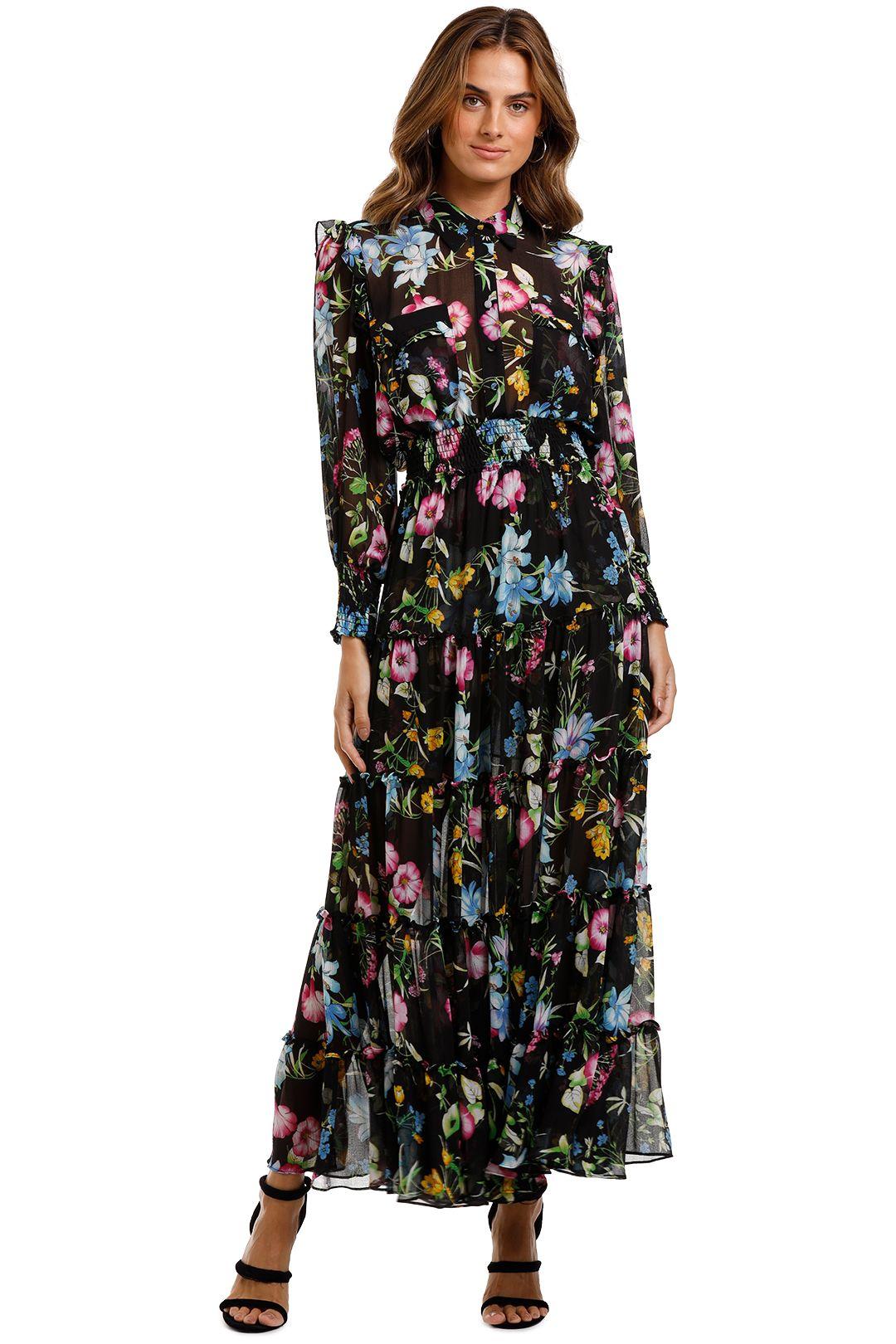 Misa LA Aydeniz Dress dark floral print