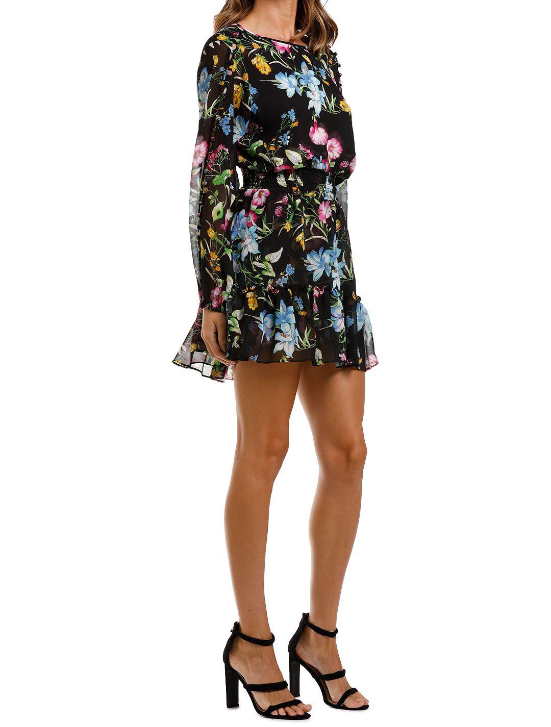 Misa LA Callae Dress mini ruffle cold shoulder