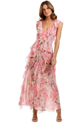 Misa LA Claudita Dress ruffle trim