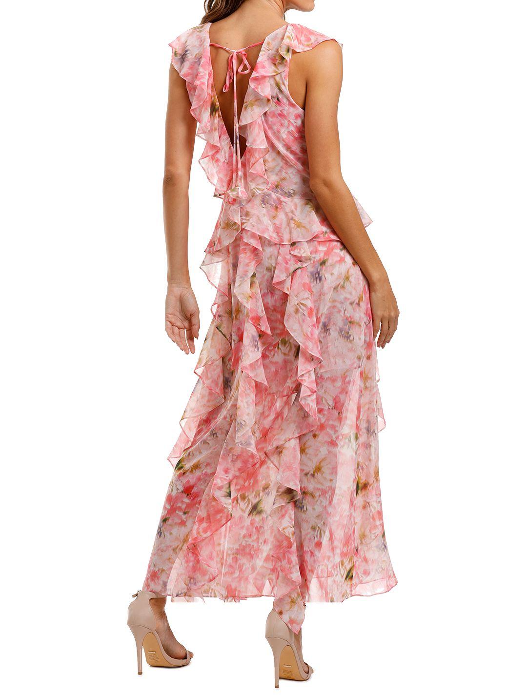Misa LA Claudita Dress pink floral print