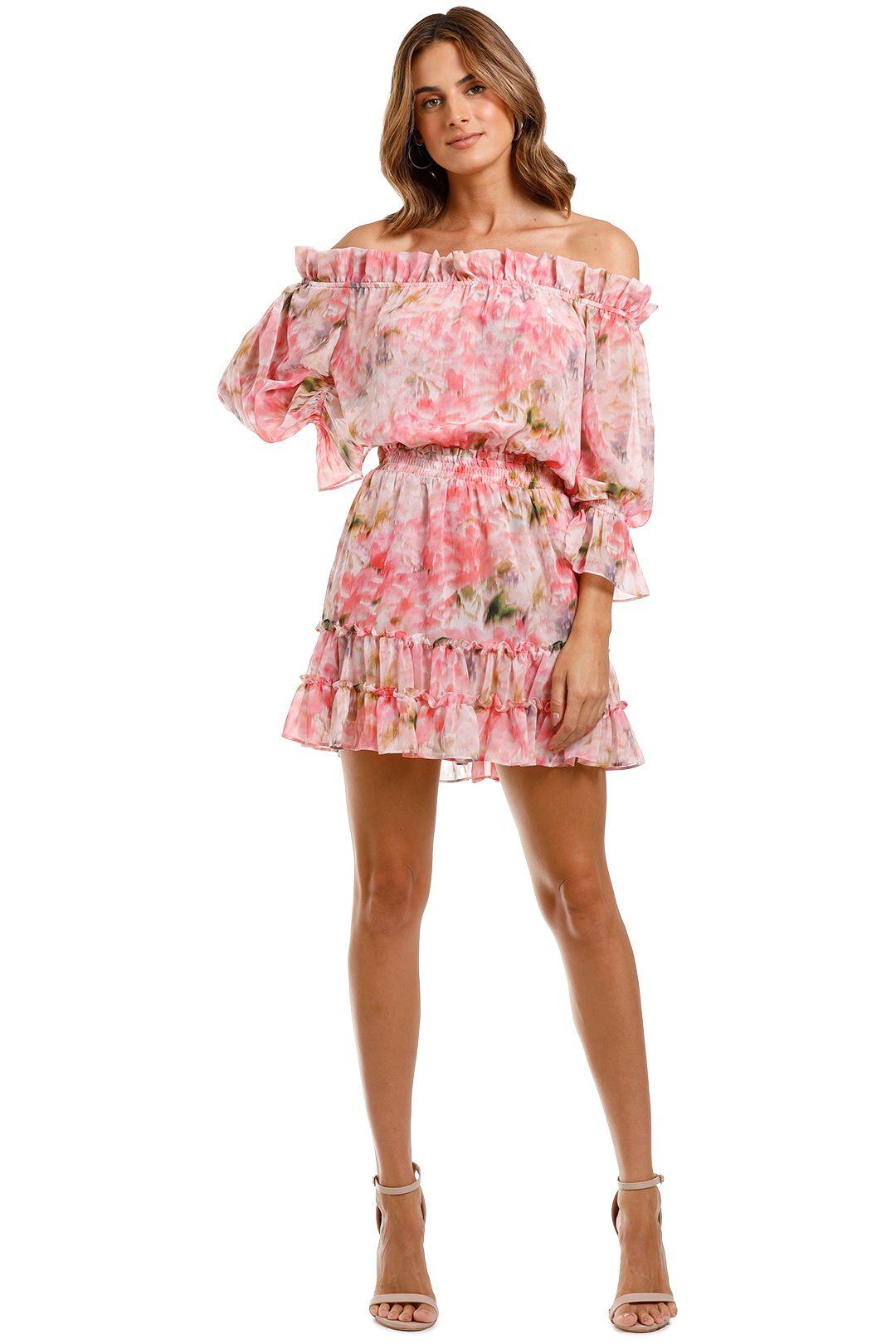 Misa LA Danae Dress mini ruffle hem