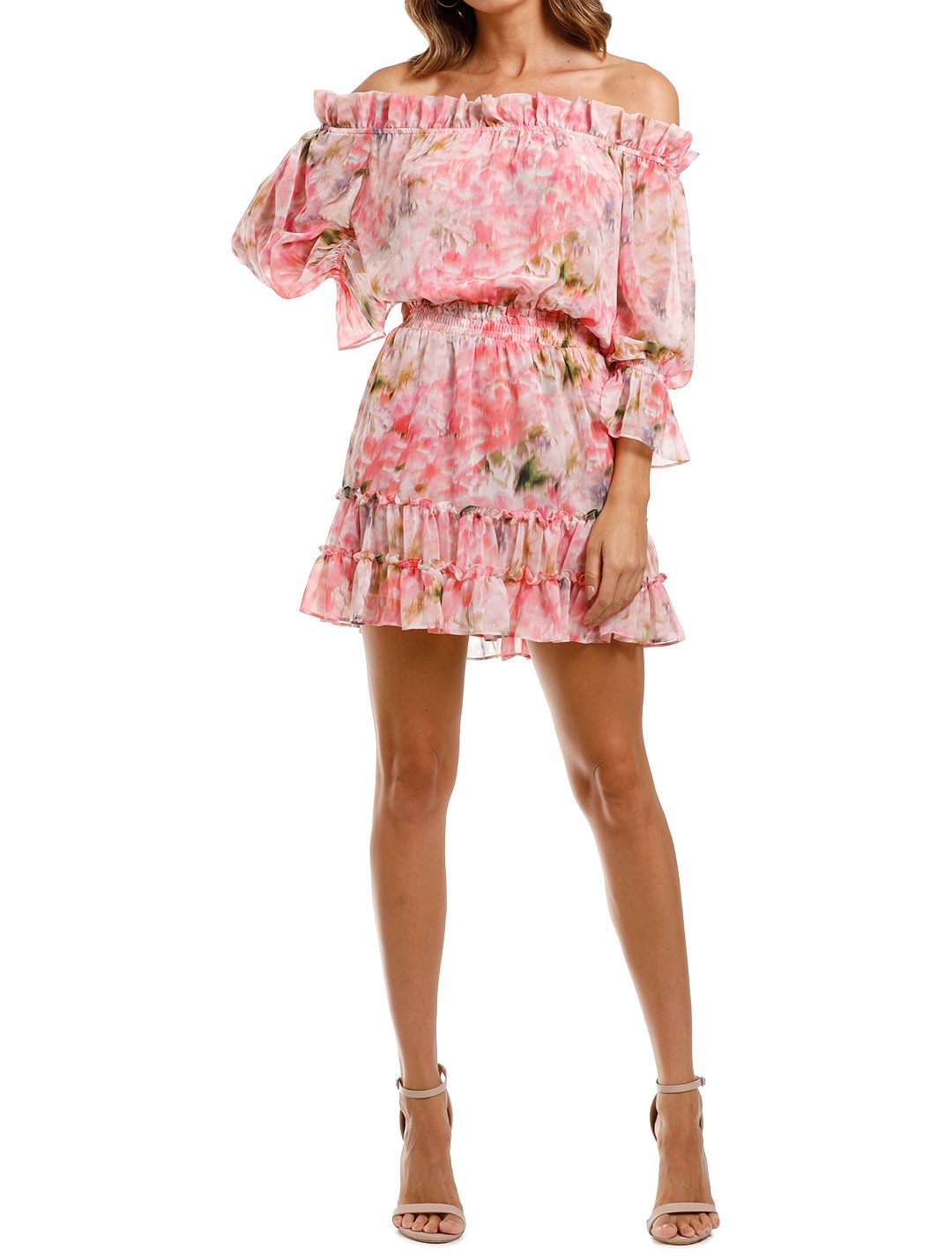 Misa LA Danae Dress mini ruffle hem