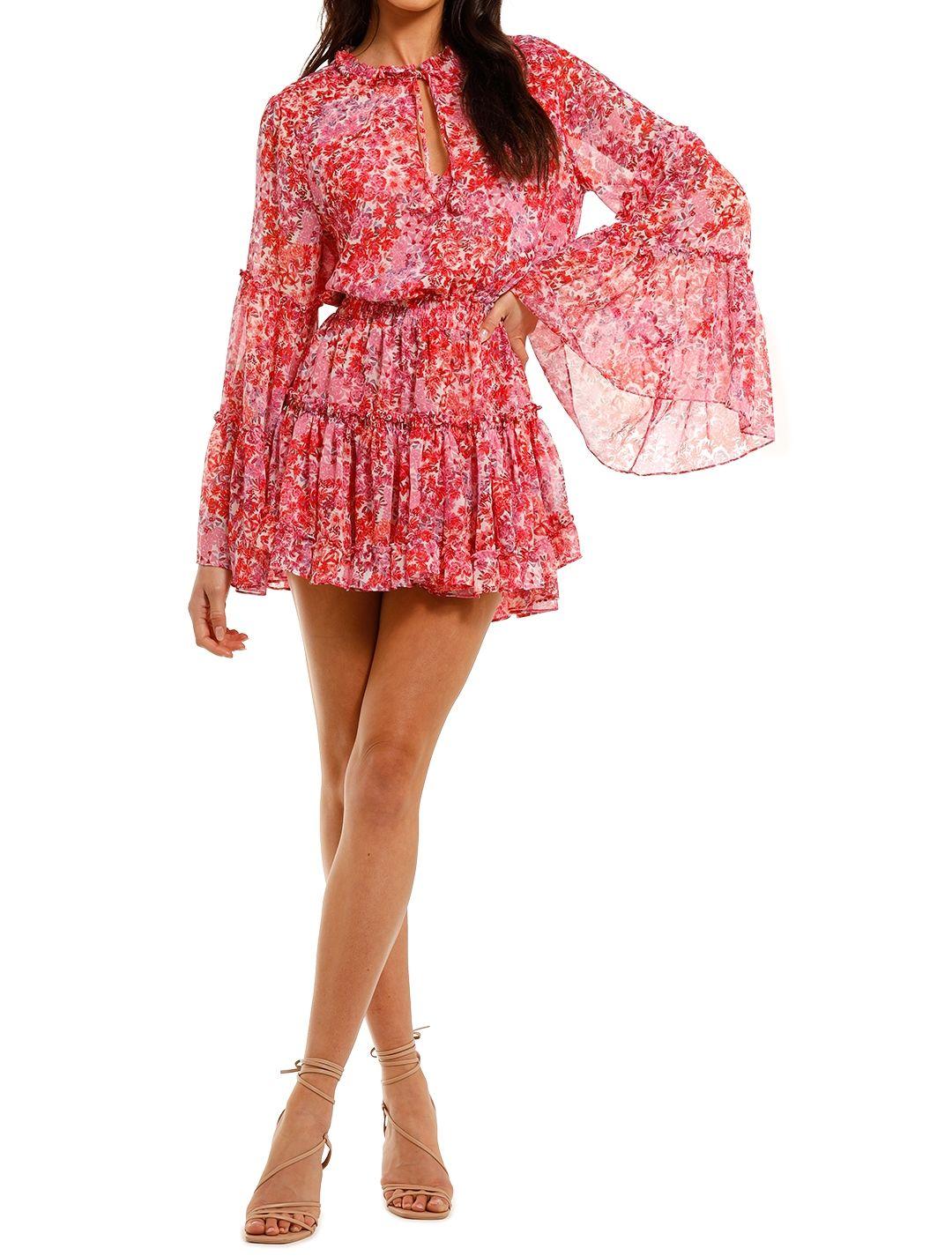 Misa LA Leeva Dress Pink Print