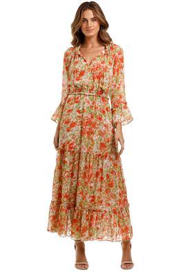 Misa LA Lucinda Dress maxi tiered ruffle