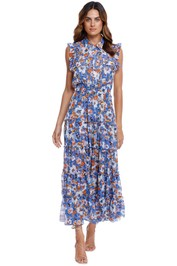 Misa LA Trina Dress Blue Pansy shirt