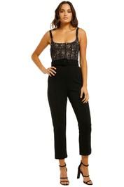 Misha-Ariella-Pantsuit-Black-Front