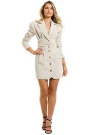 Misha-Aurora-Blazer-Dress-Stone-Grey-Front