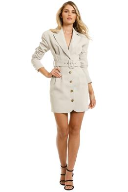 Misha-Aurora-Blazer-Dress-Stone-Grey-Front