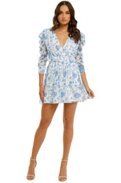 Misha-Cierra-Dress-Blue-Floral-Front