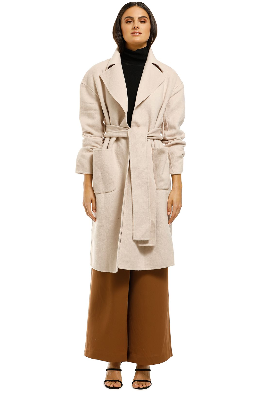 Misha-Collection-Haillie-Coat-Beige-Front