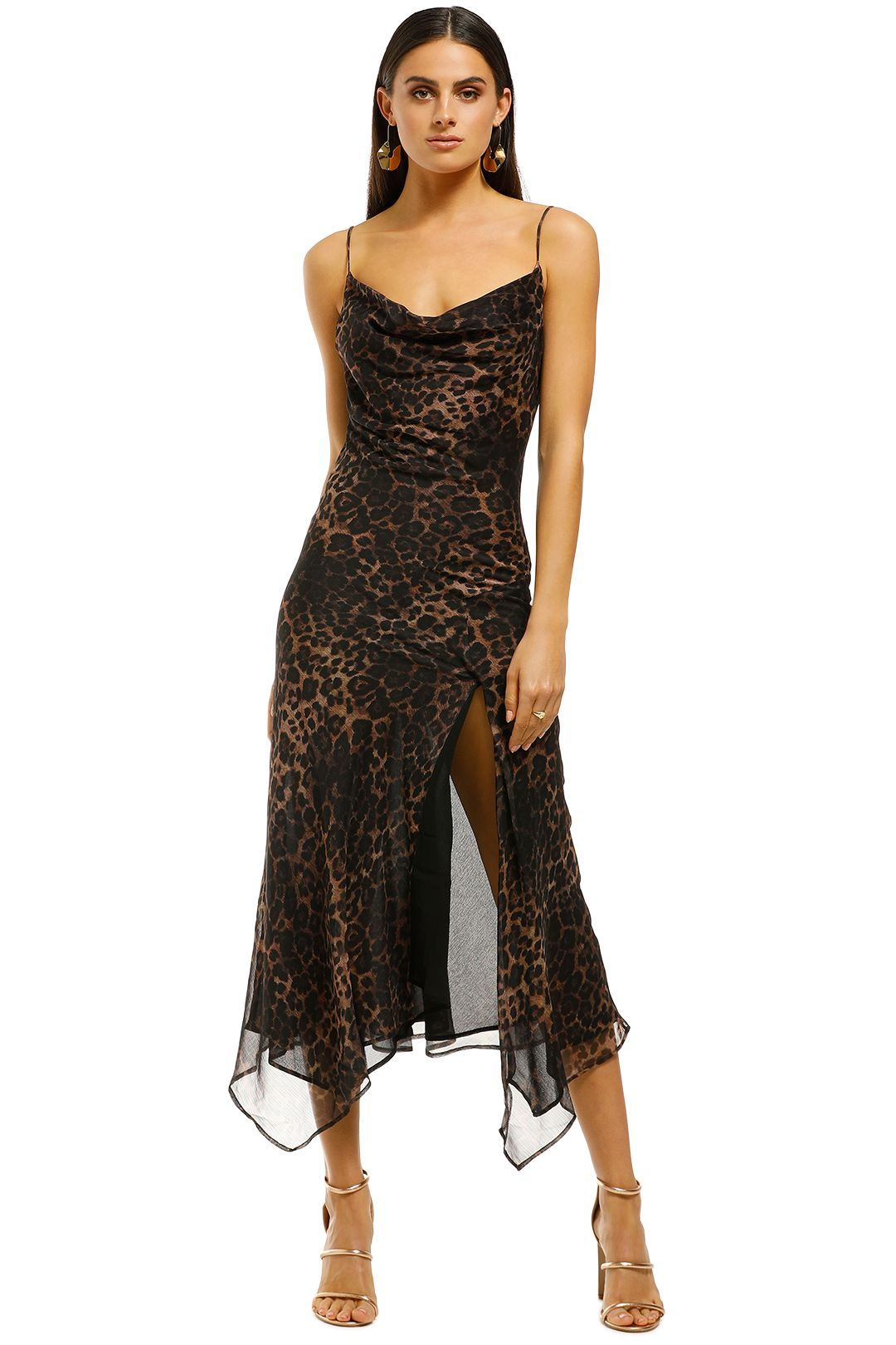 Misha-Collection-Johanna-Dress-Leopard-Front