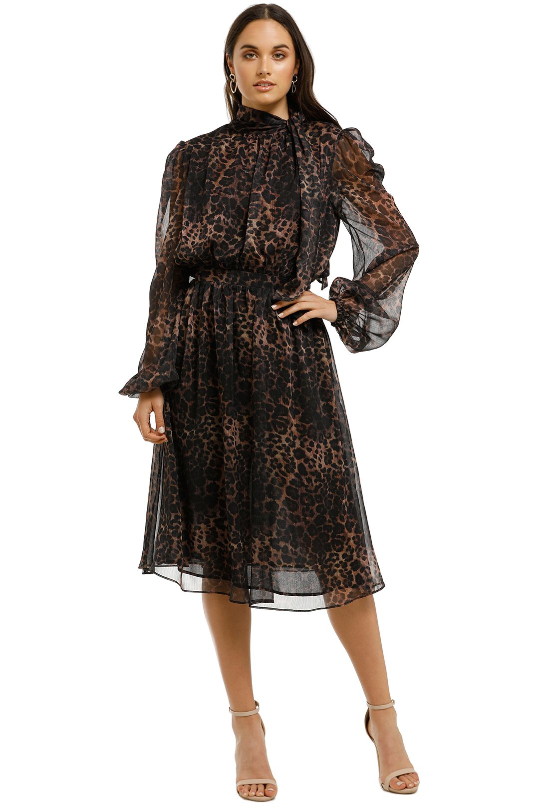 Misha-Collection-Sofia-Dress-Leopard-Front
