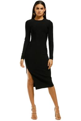 Misha-Collection-Stacey-Bandage-Dress-Black-Front