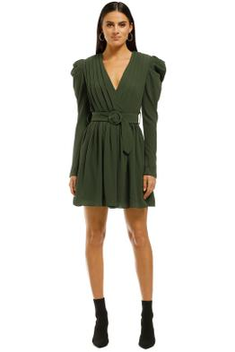 Misha-Collection-Zahlia-Dress-Khaki-Front