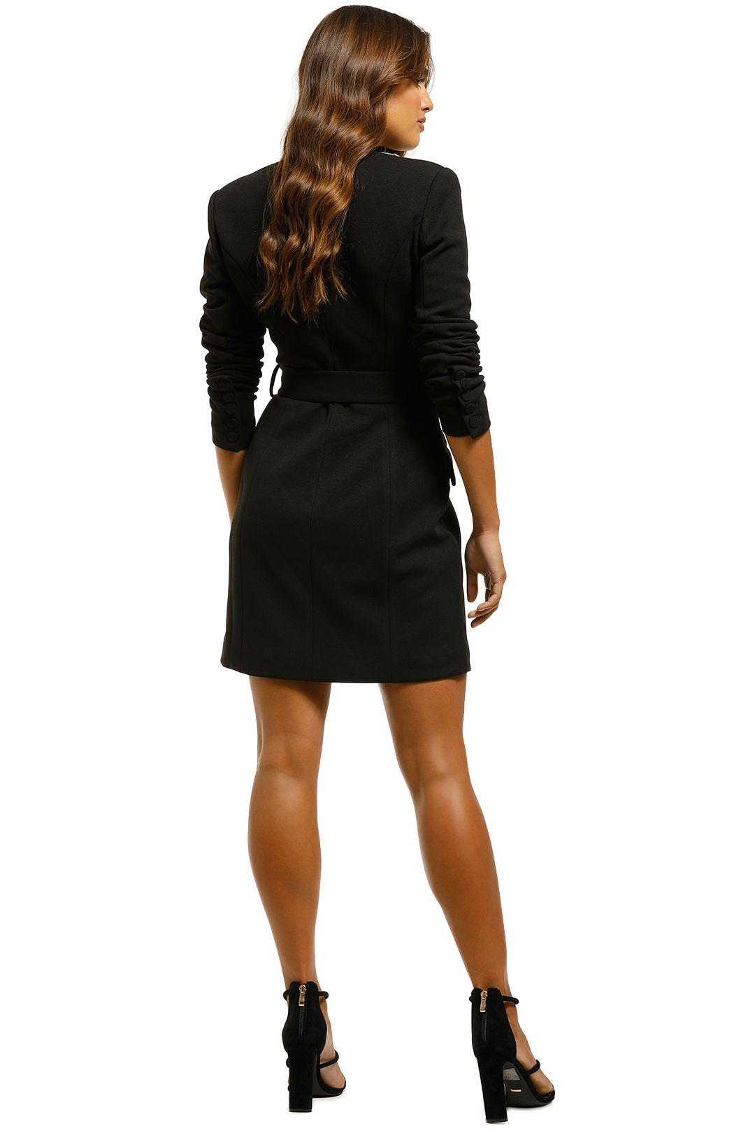 Misha-Helen-Blazer-Dress-Black-Back