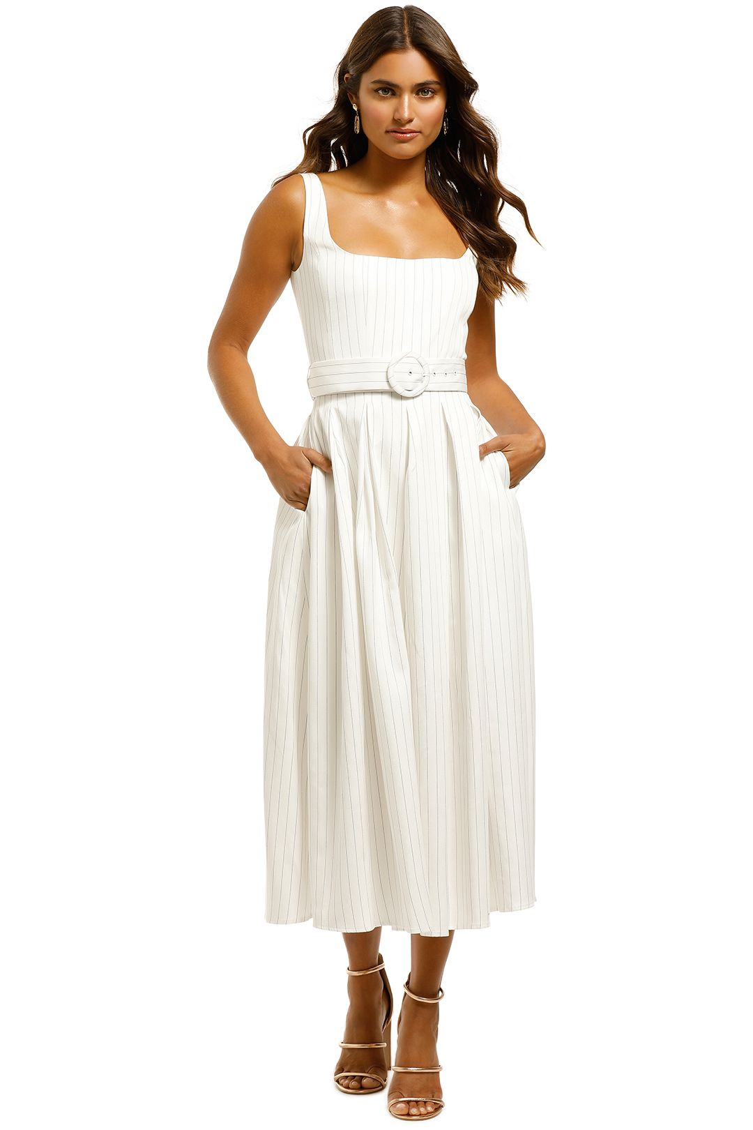 Misha-Karmella-Dress-Ivory-Front