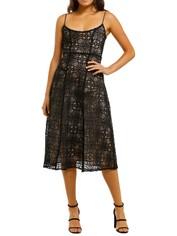 Misha-Marzia-Dress-Black-Front