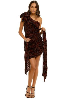 Misha-Moxie-Dress-Red-Leopard-Front