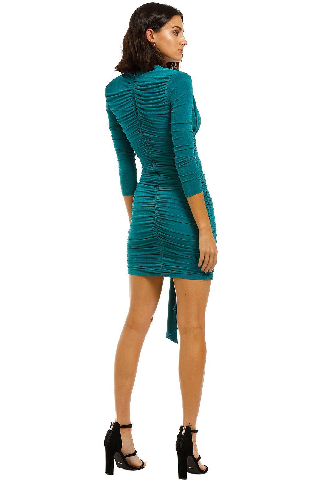 Misha-Paola-Dress-Emerald-Back