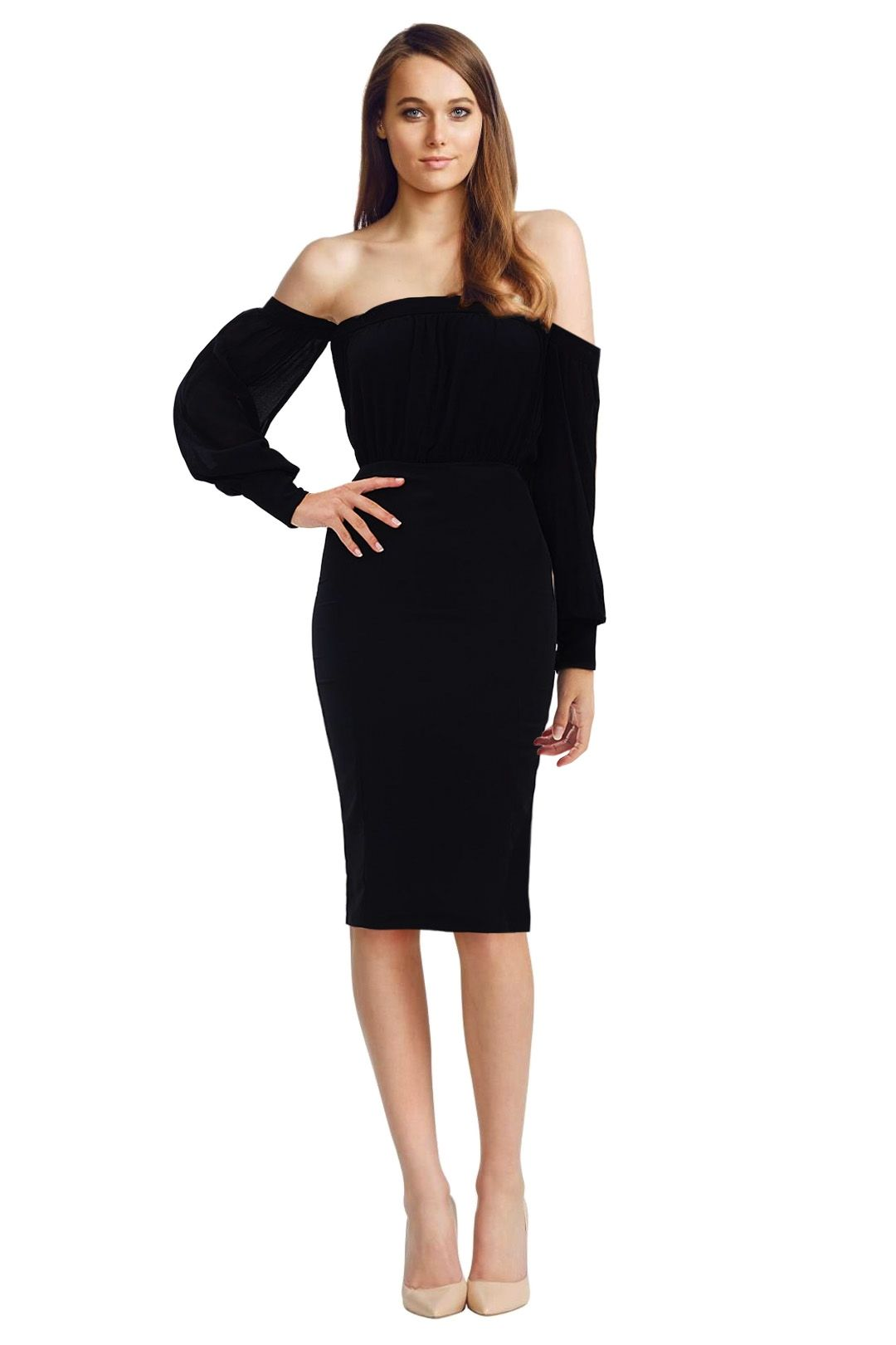 Misha Collection - Adia Dress - Black - Front