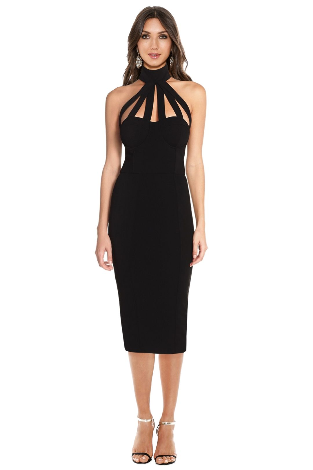 Misha Collection - Aliza Dress - Black - Front