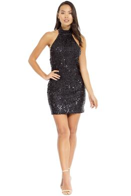 Misha Collection - Annie Sequin Dress - Black - Front