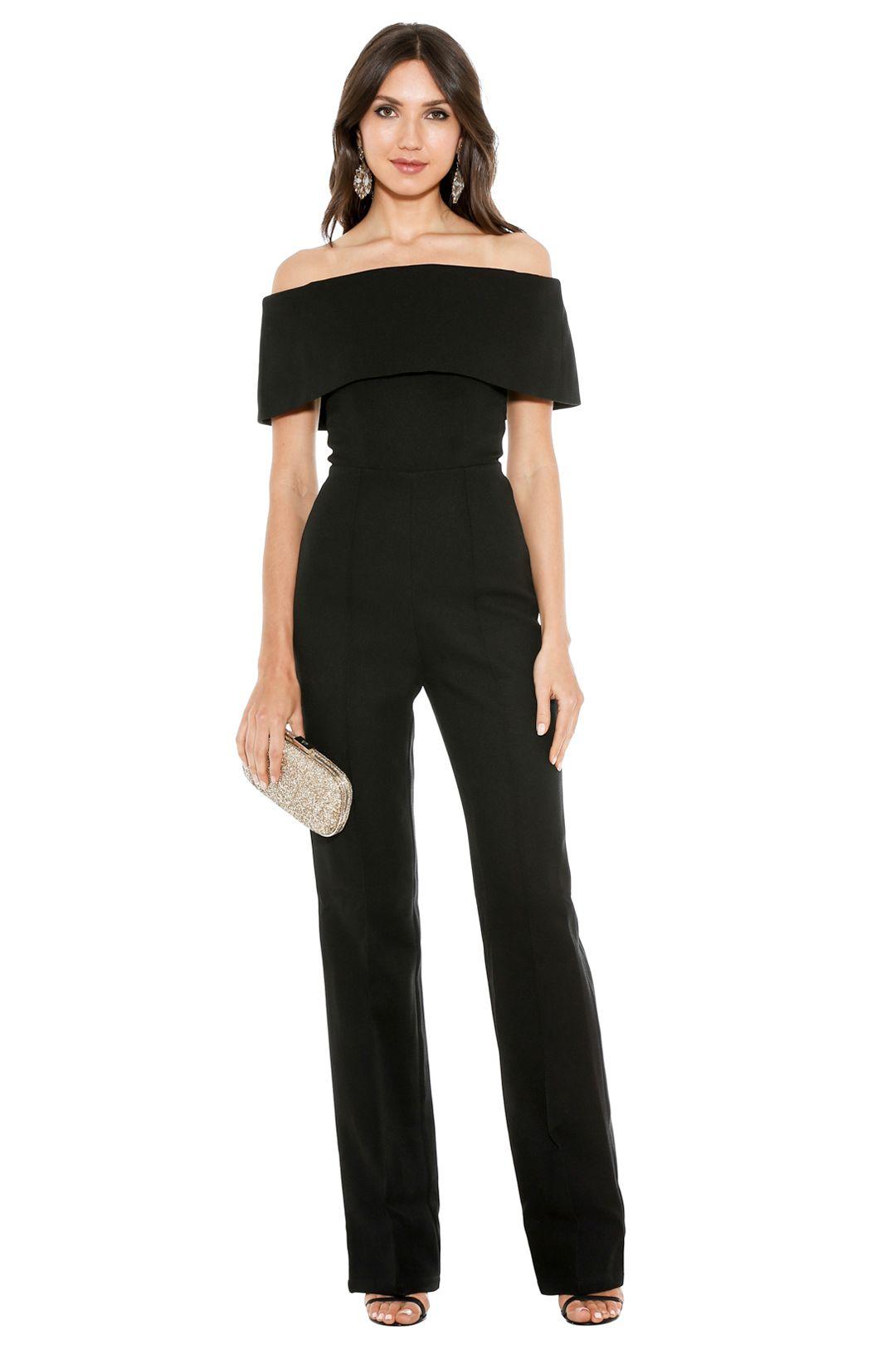 Misha Collection - Aphrodite Pantsuit - Front - Black