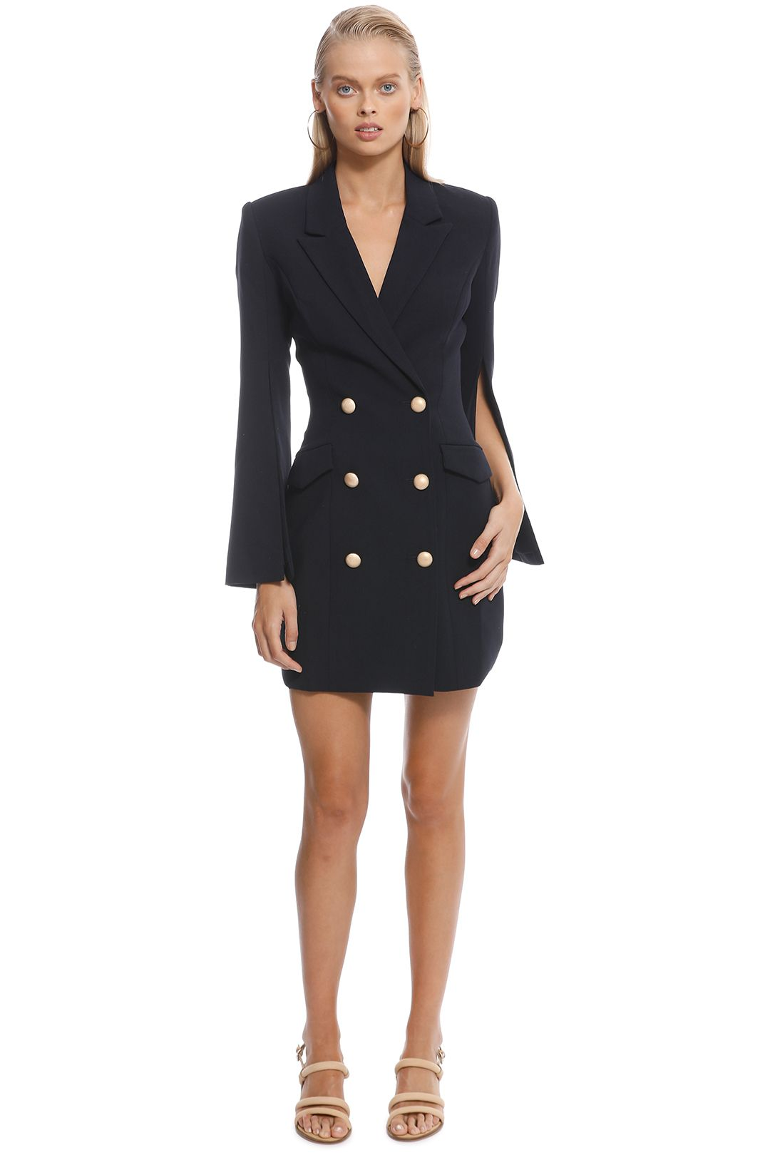 Misha Collection - Ariel Blazer Dress - Navy - Front