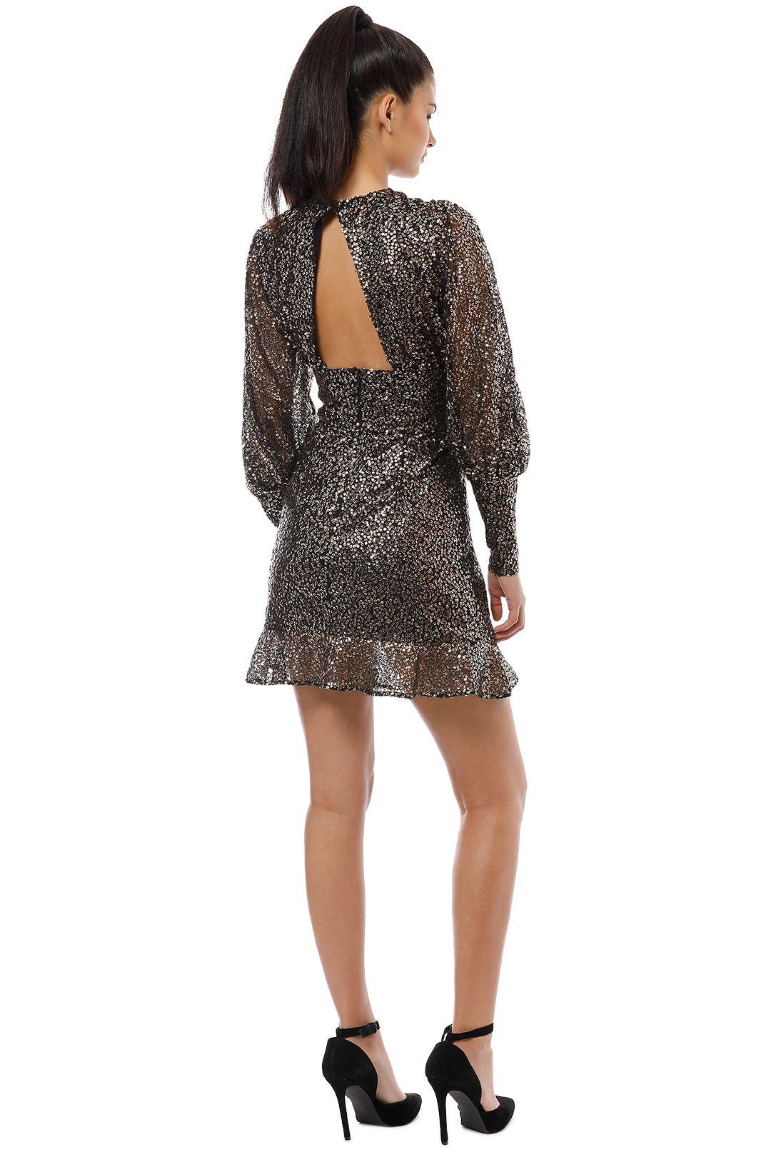 Misha Collection - Brielle Mini Dress - Black Gold - Back