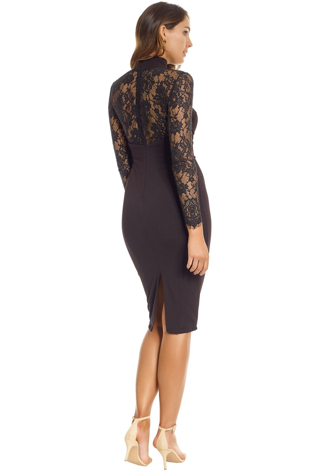 Misha Collection - Carolena Dress - Back - Black