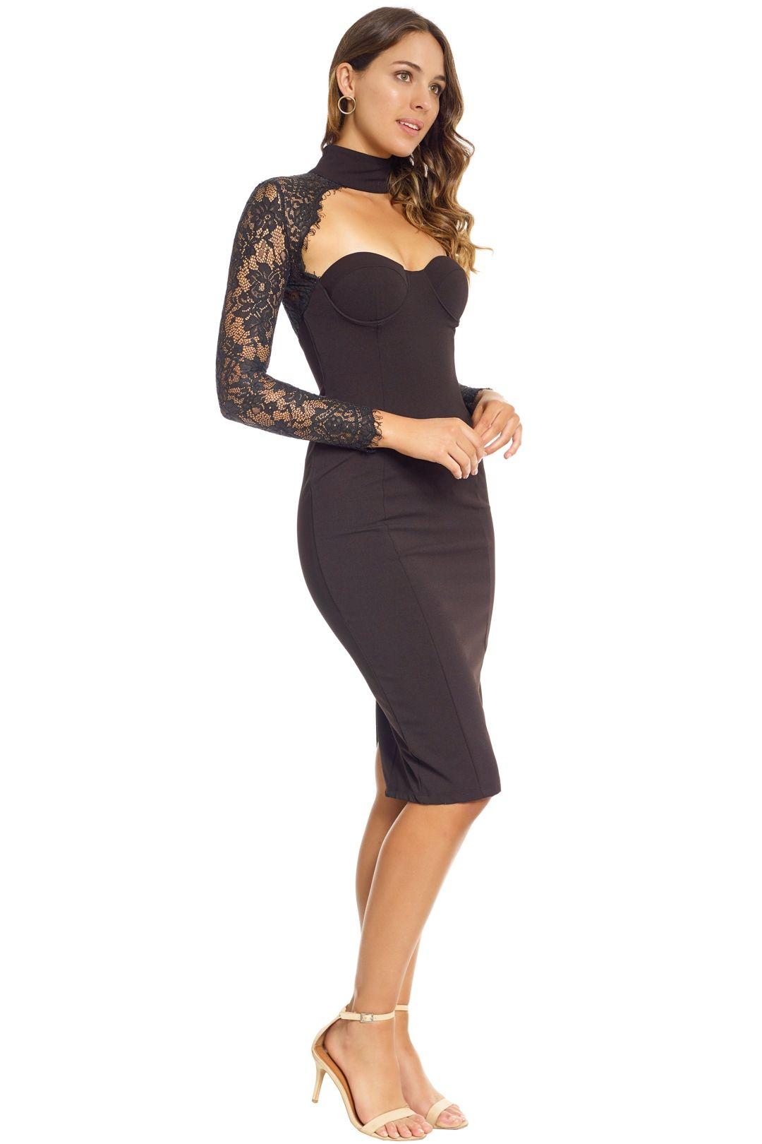 Misha Collection - Carolena Dress - Side - Black