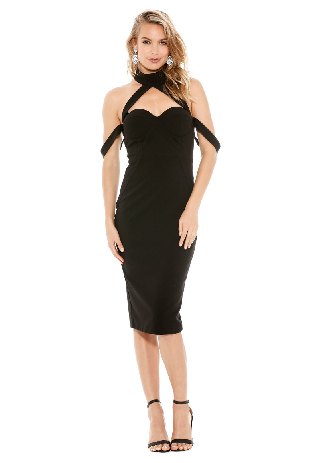 Misha Collection - Claudia Dress - Front - Black