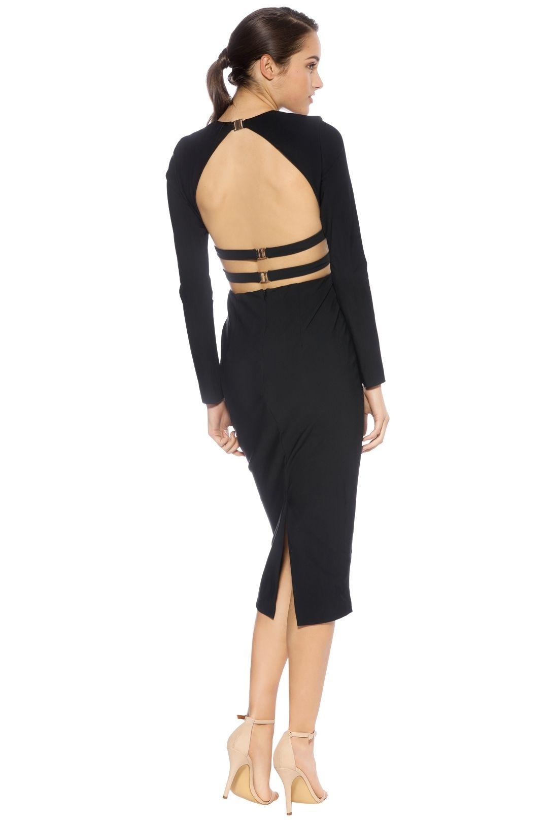 Misha Collection - Demetria Dress - Navy - Back
