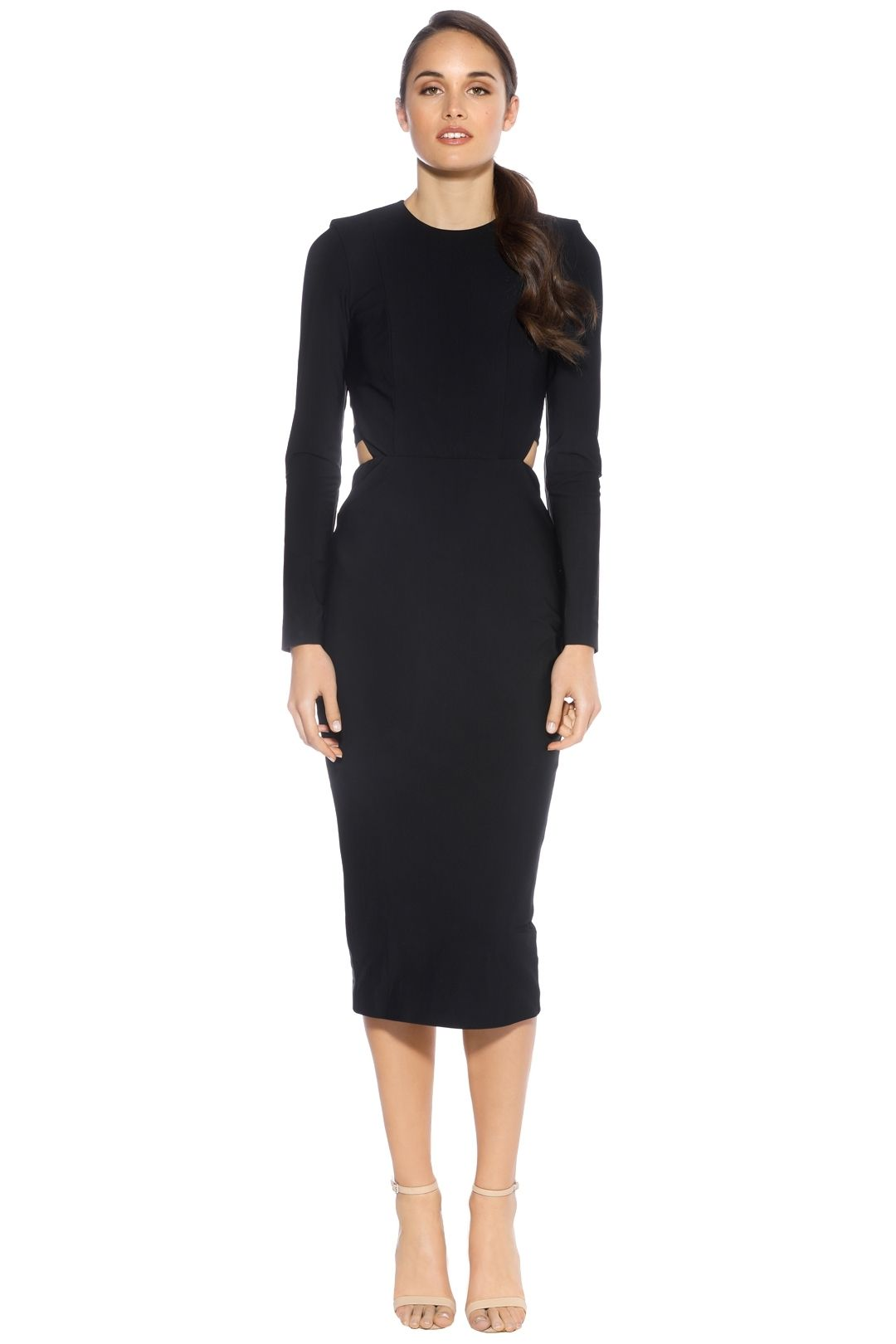 Misha Collection - Demetria Dress - Navy - Front