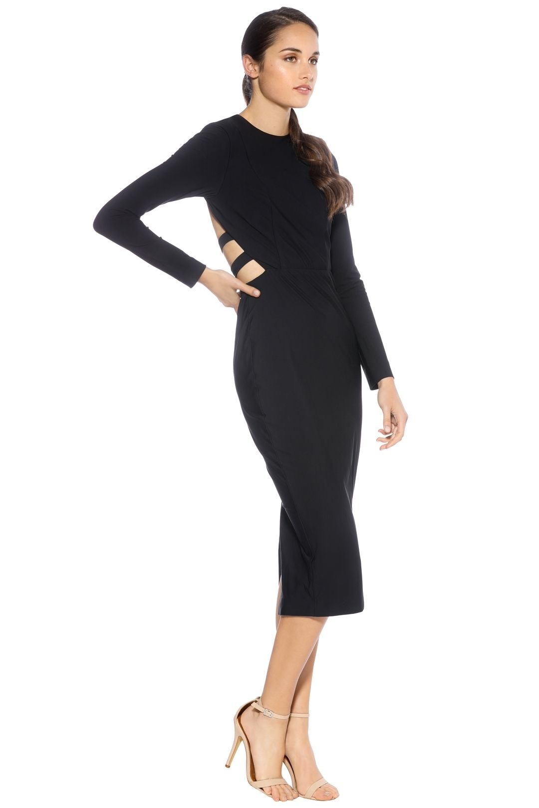 Misha Collection - Demetria Dress - Navy - Side
