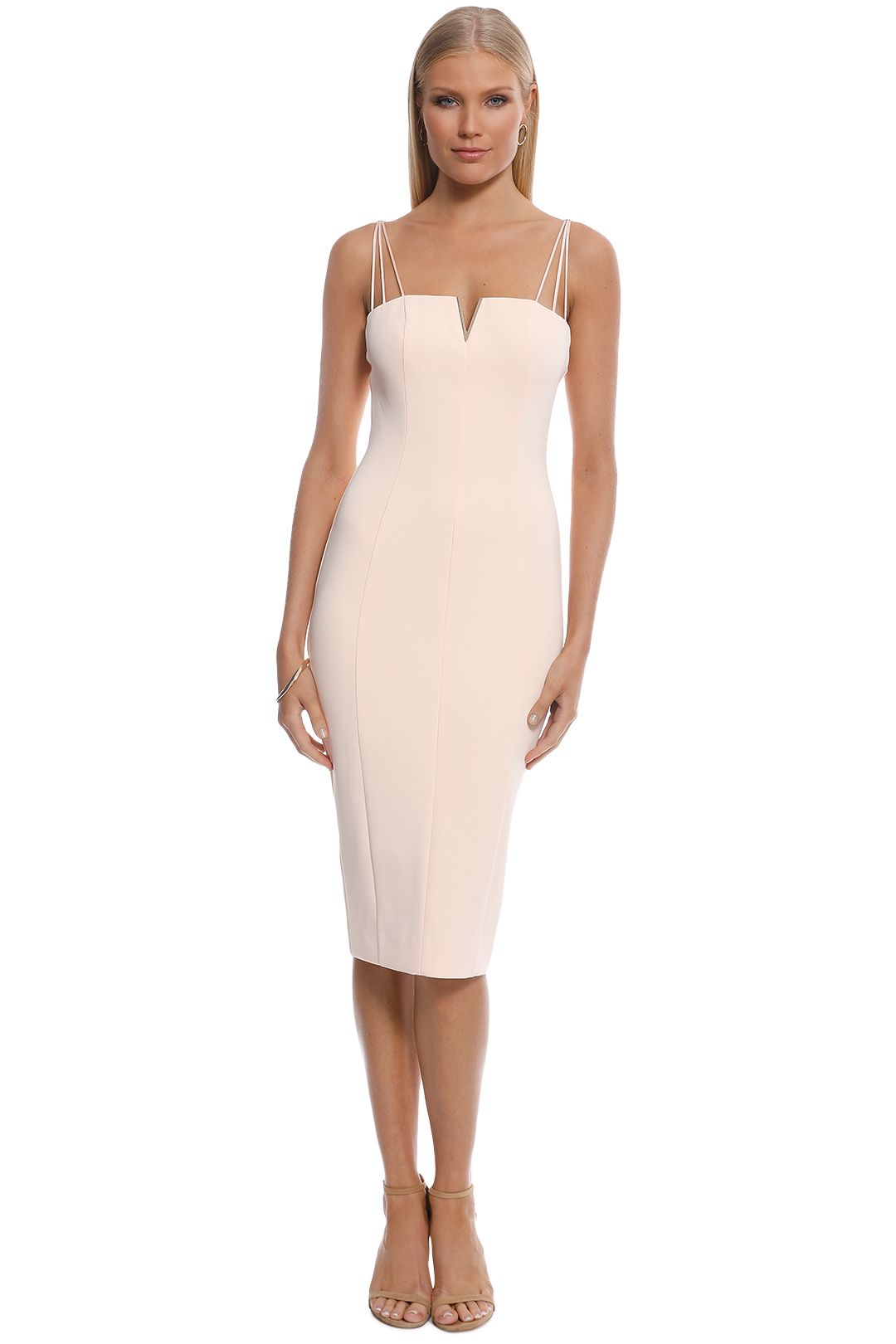 Misha Collection - Dylan Midi Dress - Blush - Front