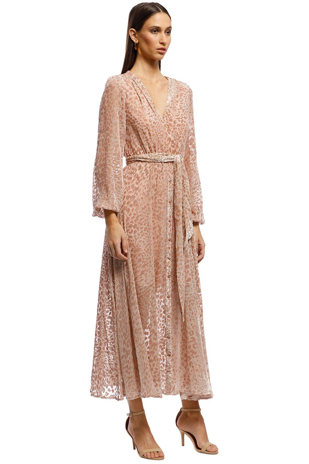 Misha Collection - Kelsie Dress - Leopard - Side