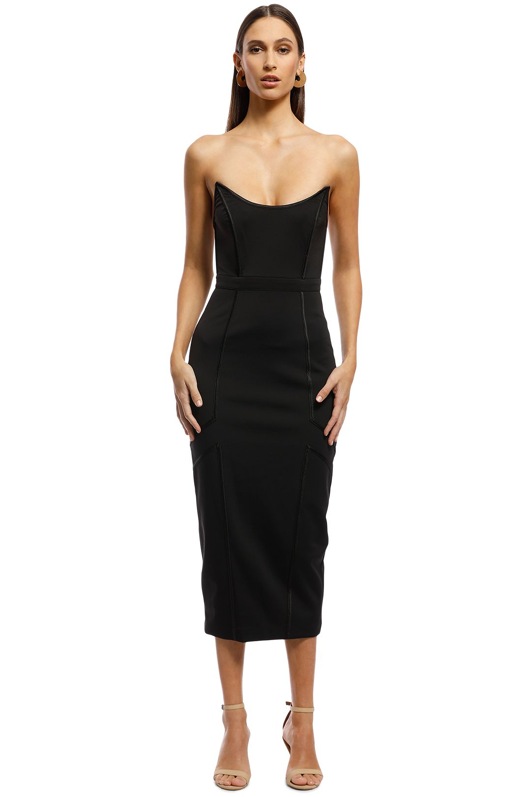 Misha Collection - Lea Dress - Black - Front