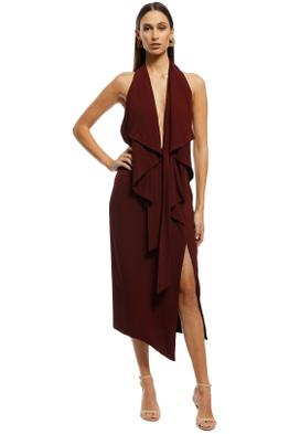 Misha Collection - Lorena Dress - Plum - Front